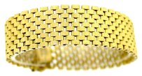 Tiffany & Co. Authentic Tiffany & Co. 18k Yellow Gold Panther 17mm Wide Chain Link Bracelet 7inch 40.4g