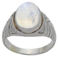 Tiffany & Co. Tiffany & Co Vintage Platinum Blue Flash Moonstone Ring Size 11.5 D824