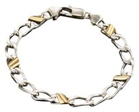 Tiffany & Co. Cuban Link 18K Gold & Sterling Silver Italy Bracelet 7.5