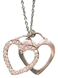 Tiffany & Co. Dual Hearts Diamonds Pendant Necklace