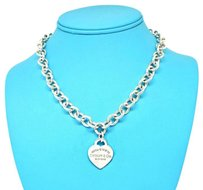 Tiffany & Co. New ! 16 Inches Please Return Sterling Silver Heart Charm Necklace