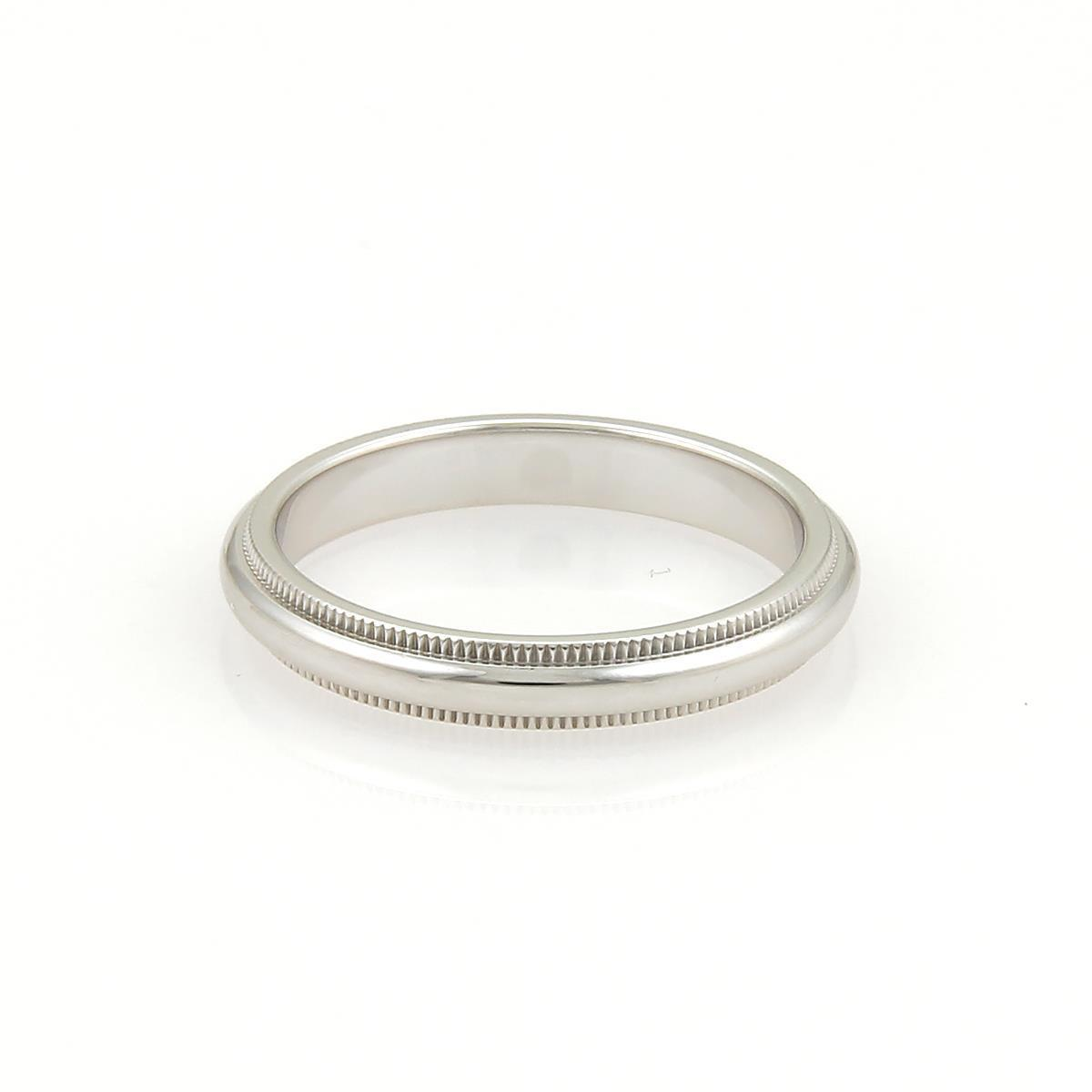 Platinum wedding bands for women size 35