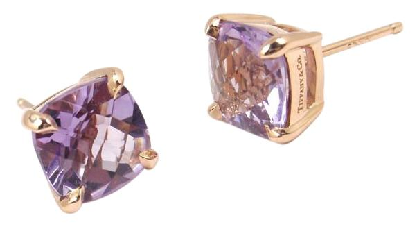 487eae12a ... amethyst ring; tiffany co. rare tiffany co sparklers 18k rose gold  lavender amethyst stud earrings