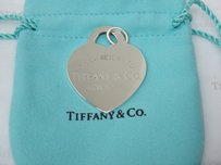 Tiffany & Co. Return to Tiffany & Co Silver X Large Heart Tag with pouc