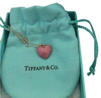Tiffany & Co. Silver Pink Rhodonite Heart Necklace