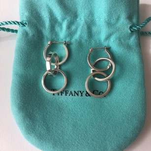Tiffany & Co. Silver Paloma Picasso Triple Loop Hoop Earrings POUCH BOX!