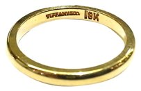 Tiffany & Co. Tiffany & Co 18 (750) Karat Gold 2.4 mm Wedding Ring Band Size 5.5
