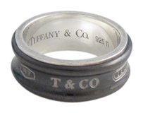 Tiffany & Co. Tiffany & Co. 1837 Collection Silver & Midnight Titanium Ring Size 8