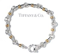 Tiffany & Co. Tiffany & Co 18K & Sterling Silver Italian Link Bracelet 7.5