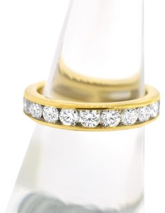 Tiffany & Co. Tiffany & Co. 18K Yellow Gold and Diamond Band