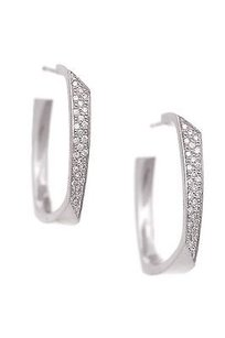 Tiffany & Co. Tiffany Co. 18k White Gold Frank Gehry Diamond Torque Earrings