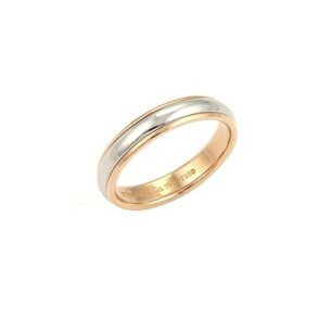 Tiffany & Co. Tiffany Co. Lucida Platinum 18k Rose Gold 4mm Wedding Band Ring -