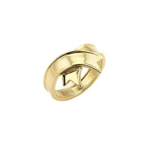 Tiffany & Co. Tiffany Co. 18k Yellow Gold Ribbon Style Crown Band Ring-size 6.25