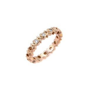 Tiffany & Co. Tiffany Co. Picasso Diamonds 18k Rose Gold Love Kisses Band Ring