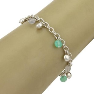Tiffany & Co. Tiffany Co. Multi-gems Sterling Silver Bead Charm Chain Bracelet