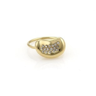 Tiffany & Co. Tiffany Co. Peretti Pave Diamond Flex Bean Ring In 18k Yellow Gold -