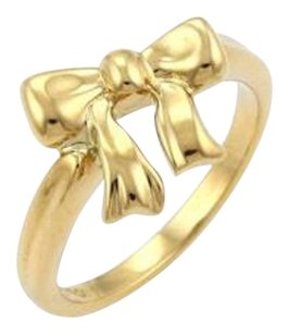 Tiffany & Co. Tiffany Co. Ribbon Bow 18k Yellow Gold Ring - 5.25