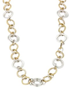 Tiffany & Co. Tffany Co. 18k Yellow Gold Silver Assorted Hoop Link Chain Necklace