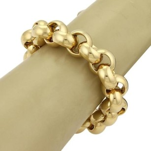 Tiffany & Co. Tiffany Co. 18k Yellow Gold Rolo Link Hefty Bracelet - 91gr- 8.25