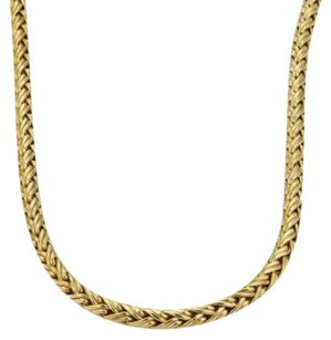 Tiffany & Co. Tiffany Co. 18k Yellow Gold 4mm Woven Chain Necklace 16 Long