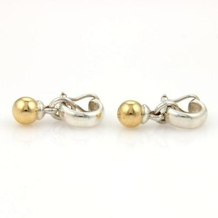 Tiffany & Co. Tiffany Co.18k Ygold 925 Silver Facination Ball Drop Dangle Earrings