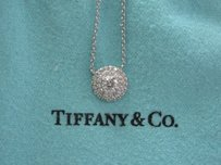 Tiffany & Co. Tiffany Co Platinum Soleste Diamond Pendant Necklace 16 .30ct