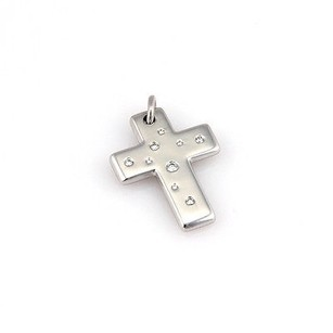 Tiffany & Co. Tiffany Co. 18k White Gold Etoile Diamond Cross Designer Pendant W Box