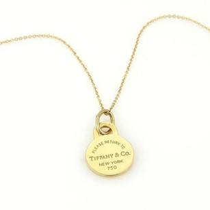 Tiffany & Co. Tiffany Co. Please Return 18k Yellow Gold Round Pendant Necklace