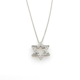 Tiffany & Co. Tiffany Co. Diamond Platinum Star Pendant Necklace