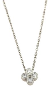 Tiffany & Co. Tiffany Co. Platinum Diamond Floral Pendant Necklace