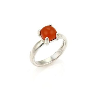 Tiffany & Co. Tiffany Co. Paloma Picasso Carnelian Sugar Stack Sterling Silver -size 6.25