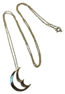 Tiffany & Co. Tiffany & co. Silver Large Crescent Moon Pendant Necklace 26