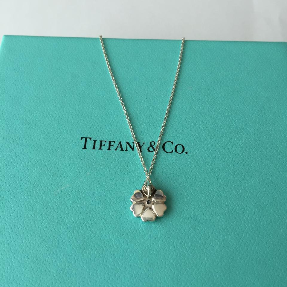 Accessories Tiffany And Co Tiffany And Co Silver Paloma Picasso Crown Of Hearts Diamond Necklace Pouch 14230447 Crown Necklace Tiffany