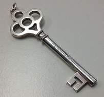 Tiffany & Co. Tiffany And Company 925 Sterling Silver Logo Stamped Crown Key Pendant B3518