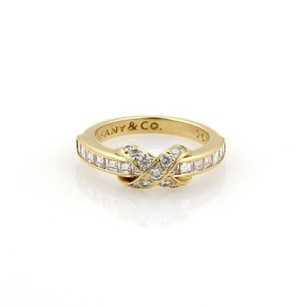 Tiffany & Co. Tiffany Co. 1.25ct Diamonds 18k Yellow Gold X Crossover Ring