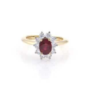 Tiffany & Co. Tiffany Co. 1.40ct Diamonds Ruby Platinum 18k Yellow Gold Cocktail Ring