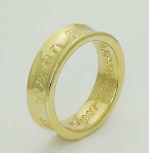 Tiffany & Co. Tiffany Co. 1837 18k Yellow Gold Band Ring 6mm Wide 14 R221