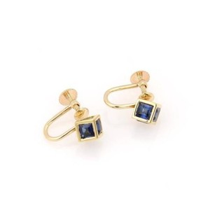 Tiffany & Co. Tiffany Co. 18k Yellow Gold 2.40ctw Square Cut Sapphire Cube Earrings