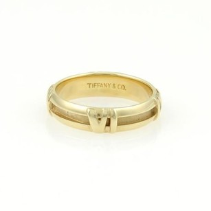 Tiffany & Co. Tiffany Co. 18k Yellow Gold 4.5mm Atlas Roman Numeral Band Ring