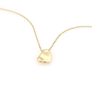 Tiffany & Co. Tiffany Co. 18k Yellow Gold Curved Heart Pendant On A 16 Chain