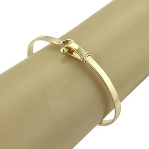 Tiffany & Co. Tiffany Co. 18k Yellow Gold Hook Buckle Bangle Bracelet