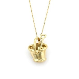 Tiffany & Co. Tiffany Co. 18k Yellow Gold Sand Bucket Pendant Necklace