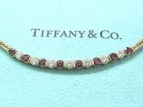 Tiffany & Co. Tiffany Co 18kt Gem Ruby Diamond Necklace 1.50ct 16