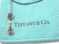 Tiffany & Co. Tiffany Co 18kt Pink Tourmaline Diamond Necklace