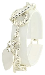 Tiffany & Co. Tiffany Co. Cable Chain Bracelet 12 - Sterling Silver Heart Charm