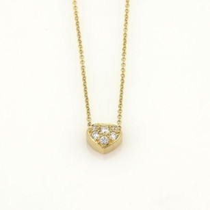 Tiffany & Co. Tiffany Co. Diamond Heart 18k Yellow Gold Pendant Chain Necklace