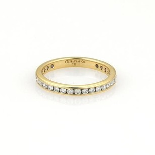Tiffany & Co. Tiffany Co. Diamonds 18k Yellow Gold Eternity Band Ring Ret