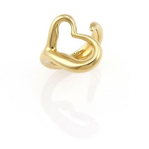 Tiffany & Co. Tiffany Co. Elsa Peretti 18k Yellow Gold Open Curved Heart Ring -