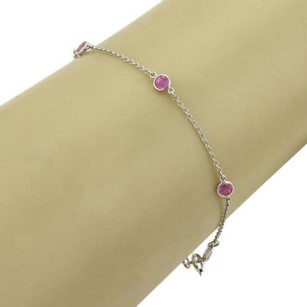 Tiffany & Co. Tiffany Co. Elsa Peretti Color By The Yard Pink Sapphire Platinum Bracelet