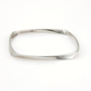 Tiffany & Co. Tiffany Co. Frank Gehry 18k White Gold Torque Bangle Bracelet